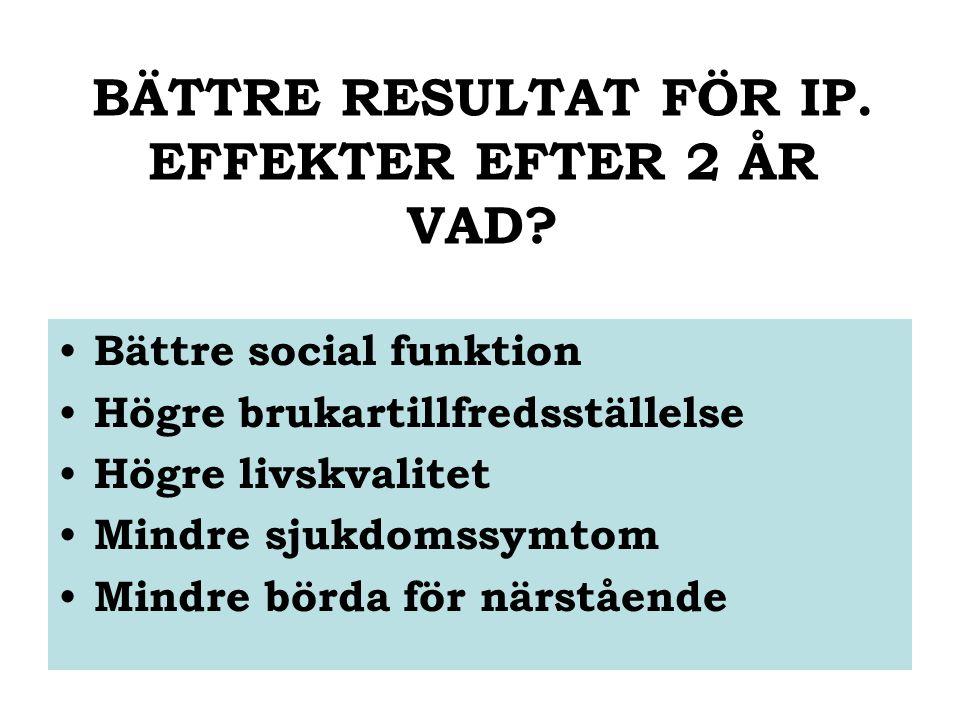 BÄTTRE RESULTAT FÖR IP. EFFEKTER EFTER 2 ÅR VAD.