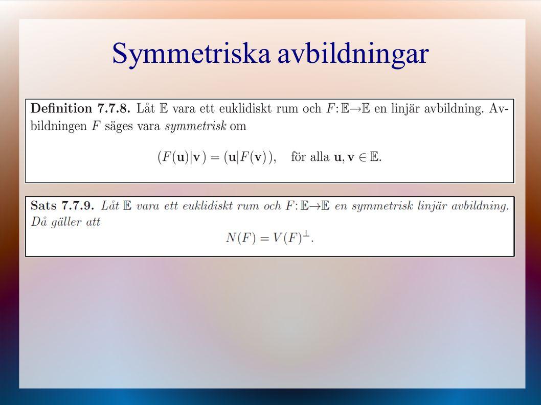 Symmetriska avbildningar
