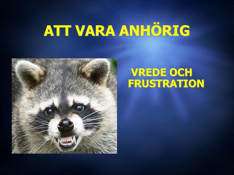 ATT VARA ANHÖRIG VREDE OCH FRUSTRATION