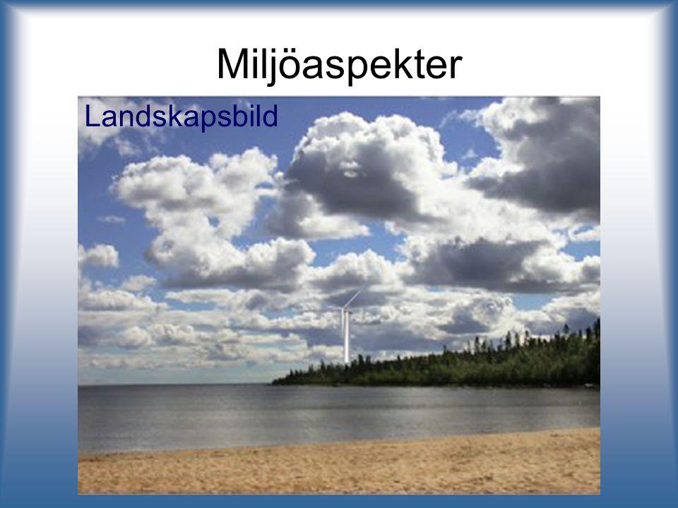 Miljöaspekter Landskapsbild