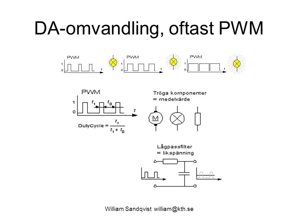 William Sandqvist william@kth.se Samplingsklocka Har man en reglerloop är det viktigt med en konstant samplings- frekvens.