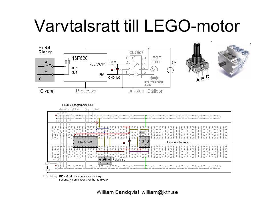 Varvtalsratt till LEGO-motor