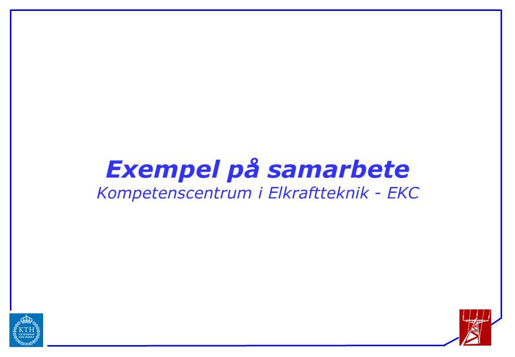 ICS Exempel på samarbete Kompetenscentrum i Elkraftteknik - EKC