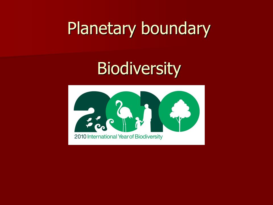 Planetary boundary Biodiversity