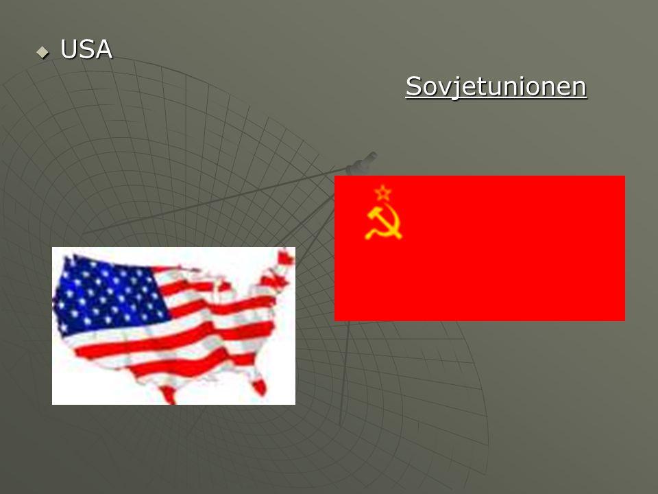  USA Sovjetunionen Sovjetunionen