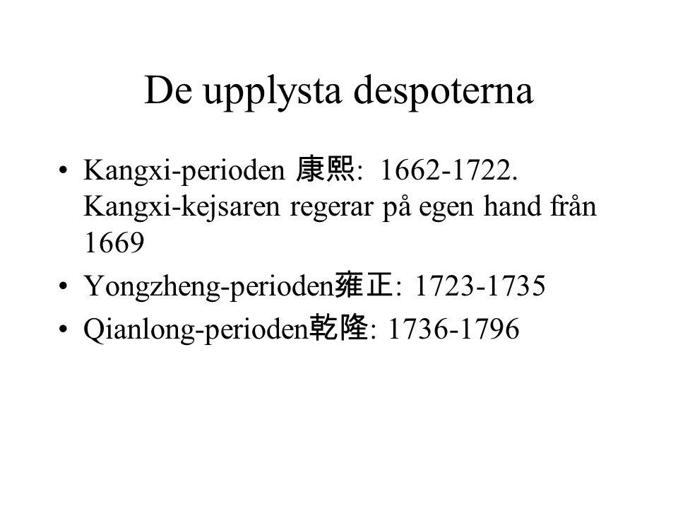 De upplysta despoterna Kangxi-perioden 康熙 : 1662-1722.