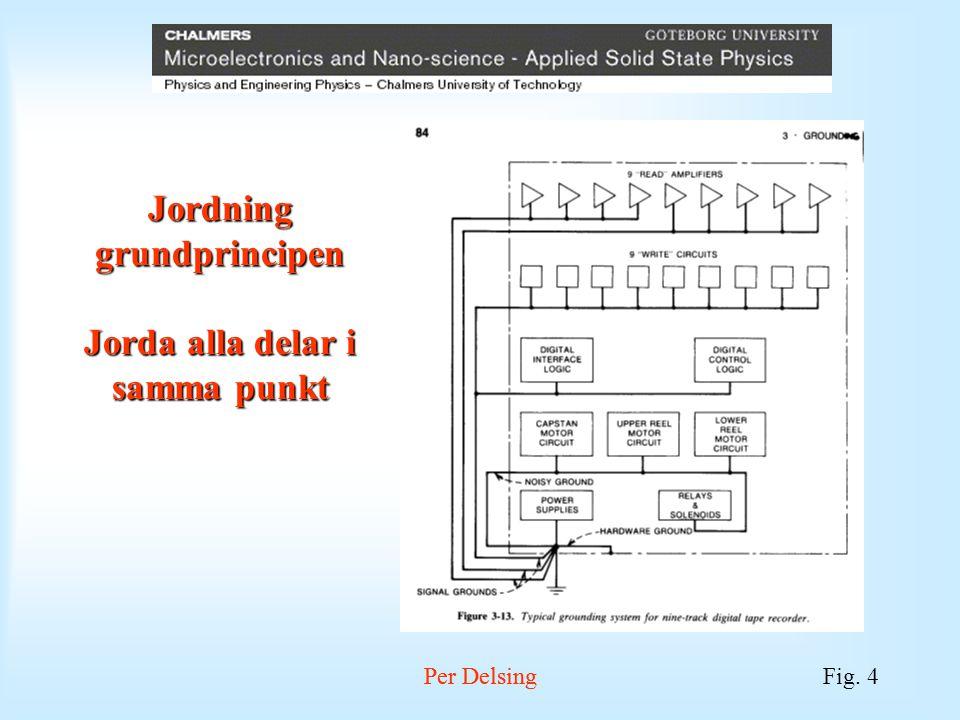 Per DelsingFig. 5 Per Delsing Jordning: hur kopplas potential skillnader i jordar in till en krets