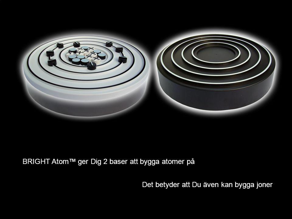 BRIGHT Atom™ ger Dig 2 baser att bygga atomer på Det betyder att Du även kan bygga joner
