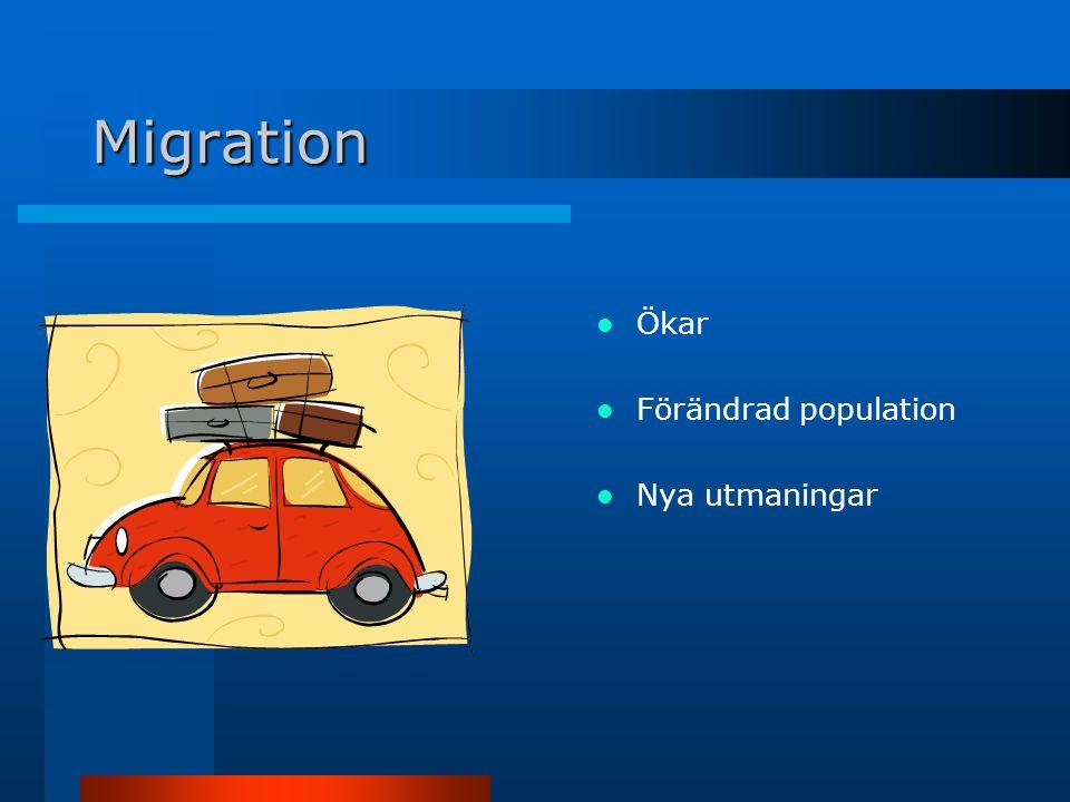 Migration Ökar Förändrad population Nya utmaningar