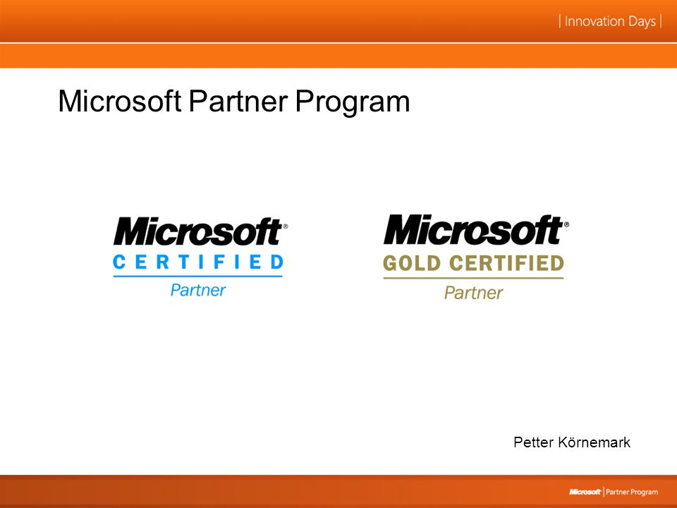 Microsoft Partner Program Petter Körnemark