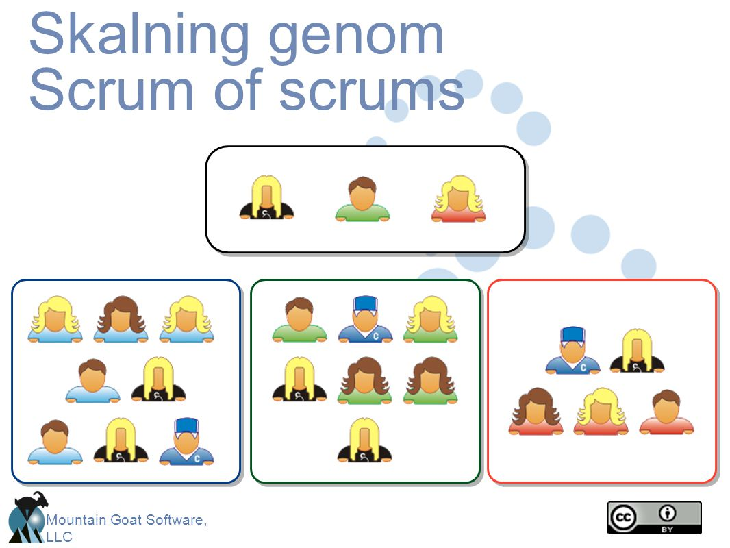 Mountain Goat Software, LLC Skalning genom Scrum of scrums