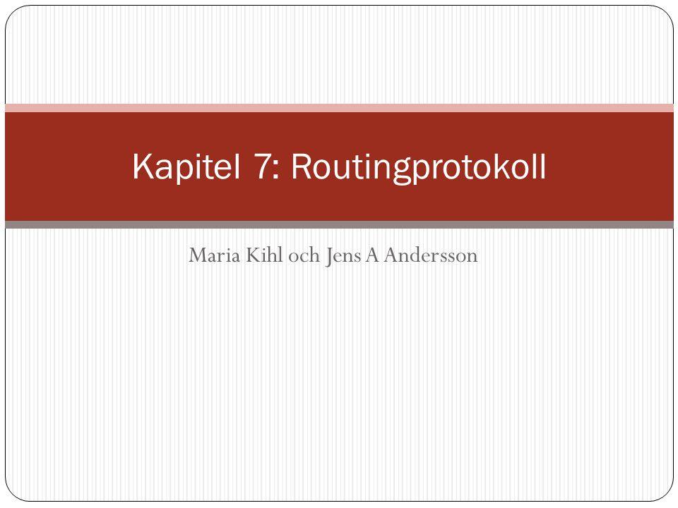 Maria Kihl och Jens A Andersson Kapitel 7: Routingprotokoll