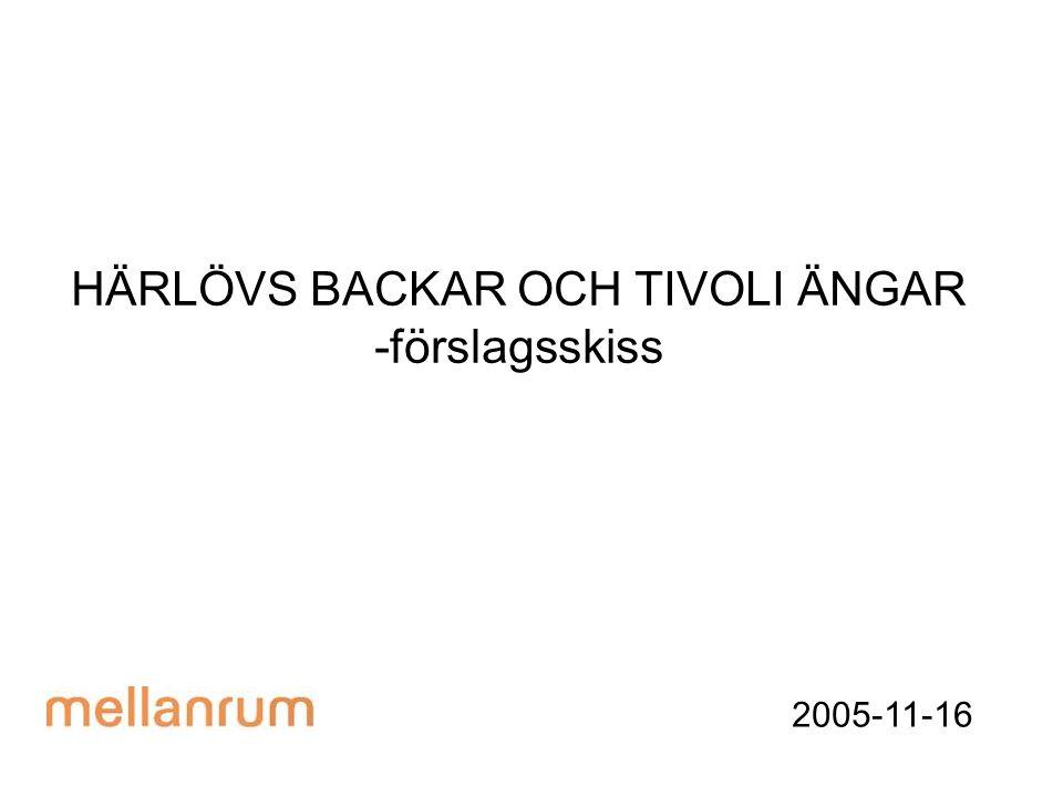 HÄRLÖVS BACKAR OCH TIVOLI ÄNGAR -förslagsskiss 2005-11-16