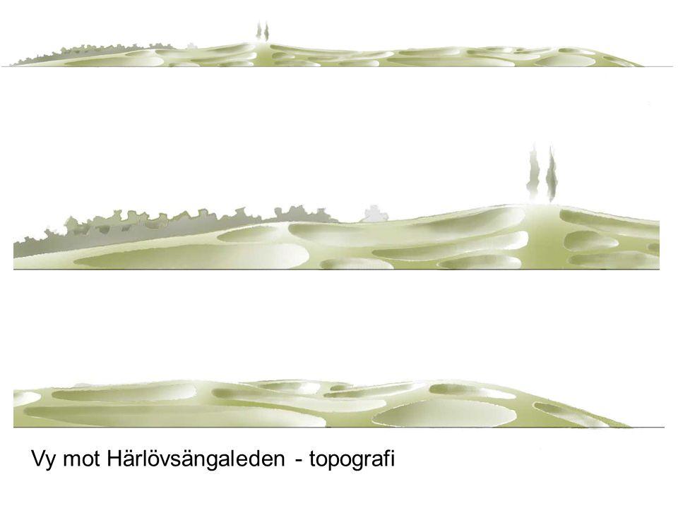 Vy mot Härlövsängaleden - topografi