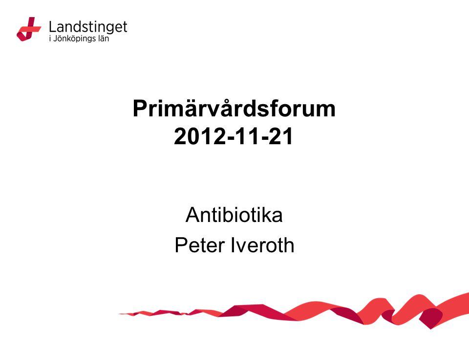 Primärvårdsforum 2012-11-21 Antibiotika Peter Iveroth