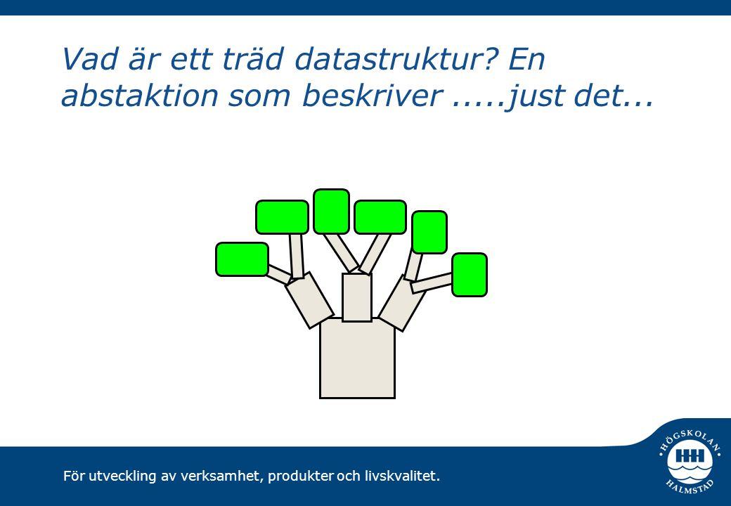 För utveckling av verksamhet, produkter och livskvalitet. Datoranpassad träd...