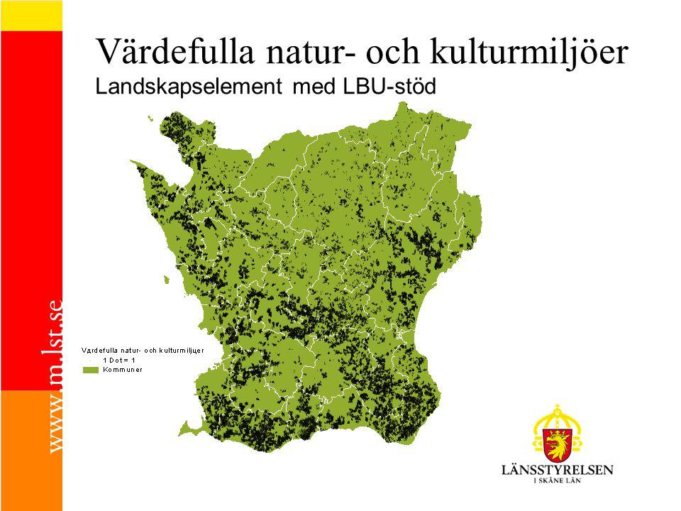Värdefulla natur- och kulturmiljöer Landskapselement med LBU-stöd