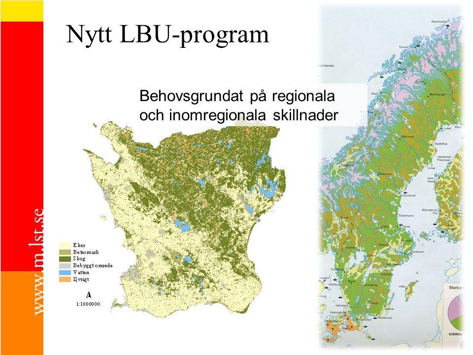 Nytt LBU-program Behovsgrundat på regionala och inomregionala skillnader
