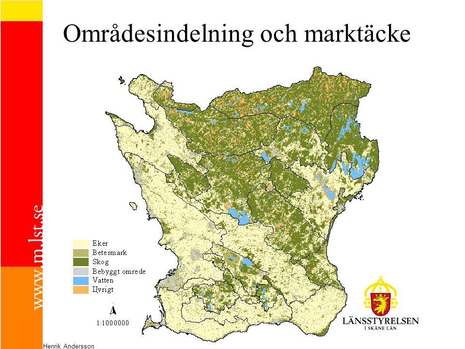 Områdesindelning och marktäcke Henrik Andersson