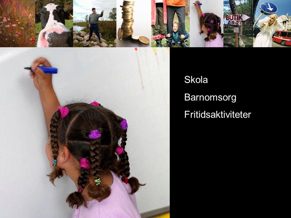 Kom service offent service kommunikationer Skola Barnomsorg Fritidsaktiviteter