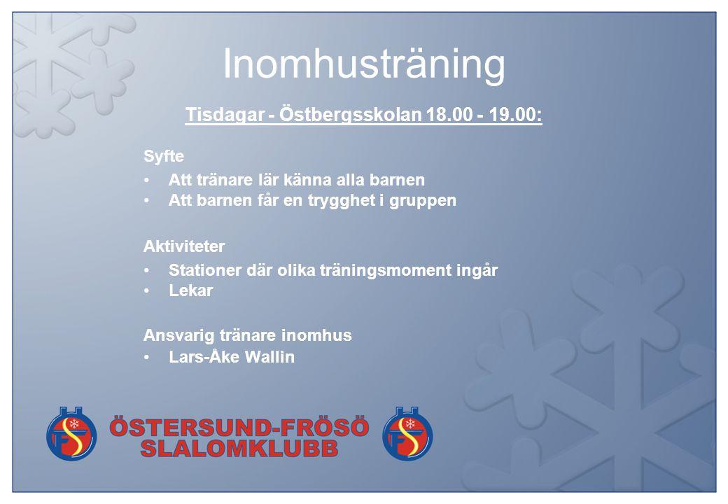 Utomhusträning Torsdagar - Lövsta/ÖSK 18.00 - 19.15 Syfte Att tränare lär känna alla barnen Att barnen får en trygghet i gruppen Aktiviteter Stationer där olika träningsmoment ingår Ev.