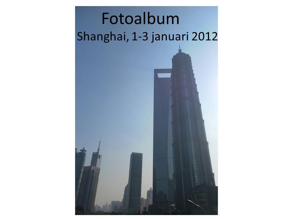 Fotoalbum Shanghai, 1-3 januari 2012