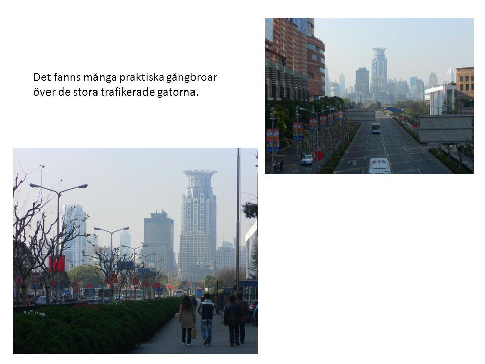 Det fanns många praktiska gångbroar över de stora trafikerade gatorna.