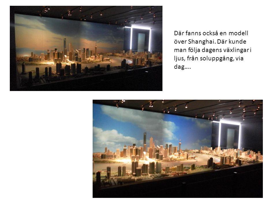 Där fanns också en modell över Shanghai.
