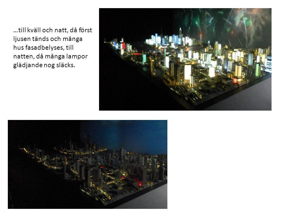 …till kväll och natt, då först ljusen tänds och många hus fasadbelyses, till natten, då många lampor glädjande nog släcks.
