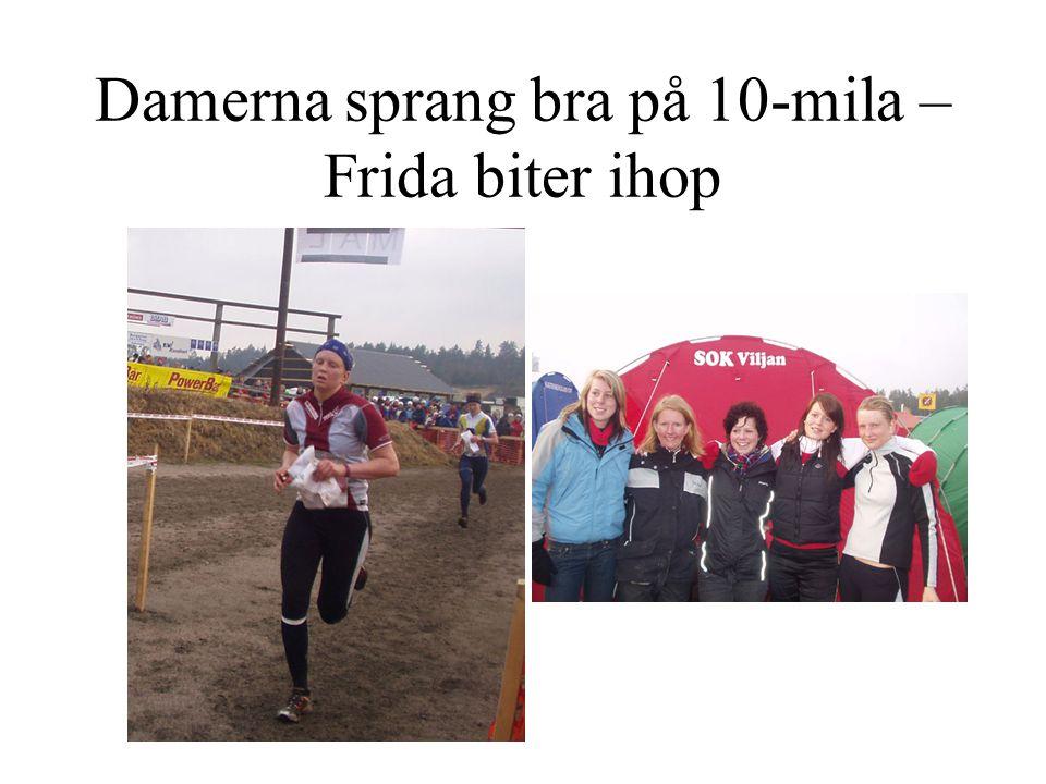 Damerna sprang bra på 10-mila – Frida biter ihop
