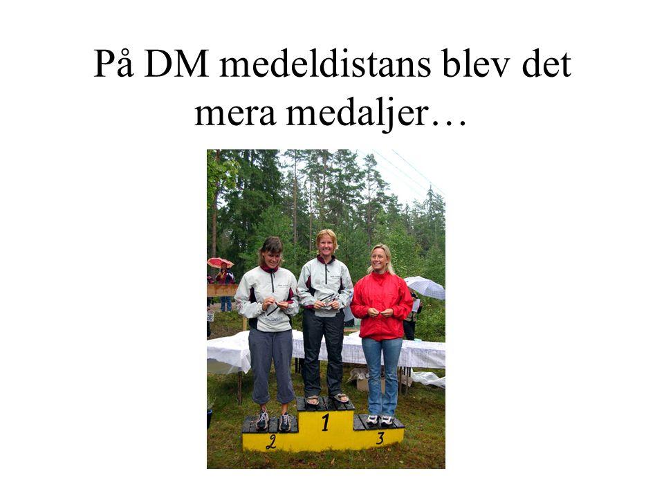 På DM medeldistans blev det mera medaljer…