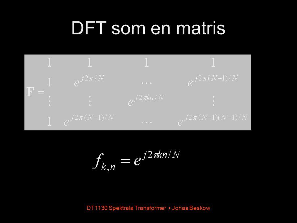 DT1130 Spektrala Transformer Jonas Beskow DFT som en matris