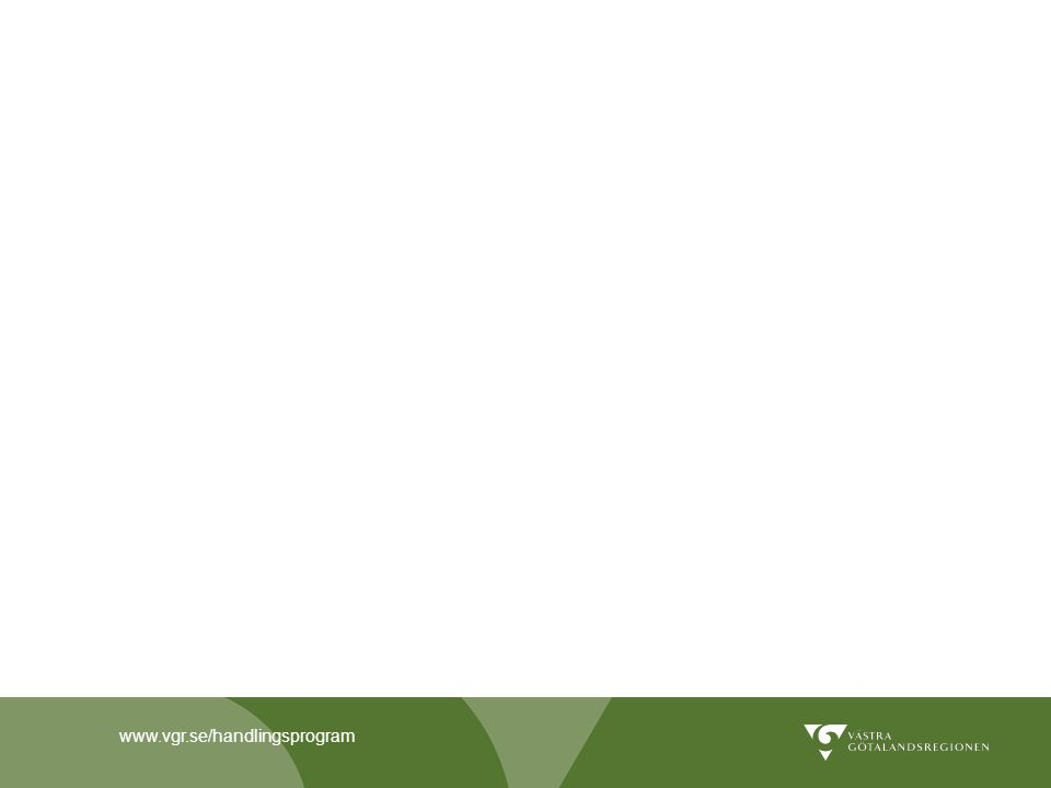 Västra Götalandsregionens handlingsprogram 2013-2015 för hållbar energi Målet är att främja utvecklingen av ett hållbart energisystem och samtidigt stimulera företagande och sysselsättning inom området.