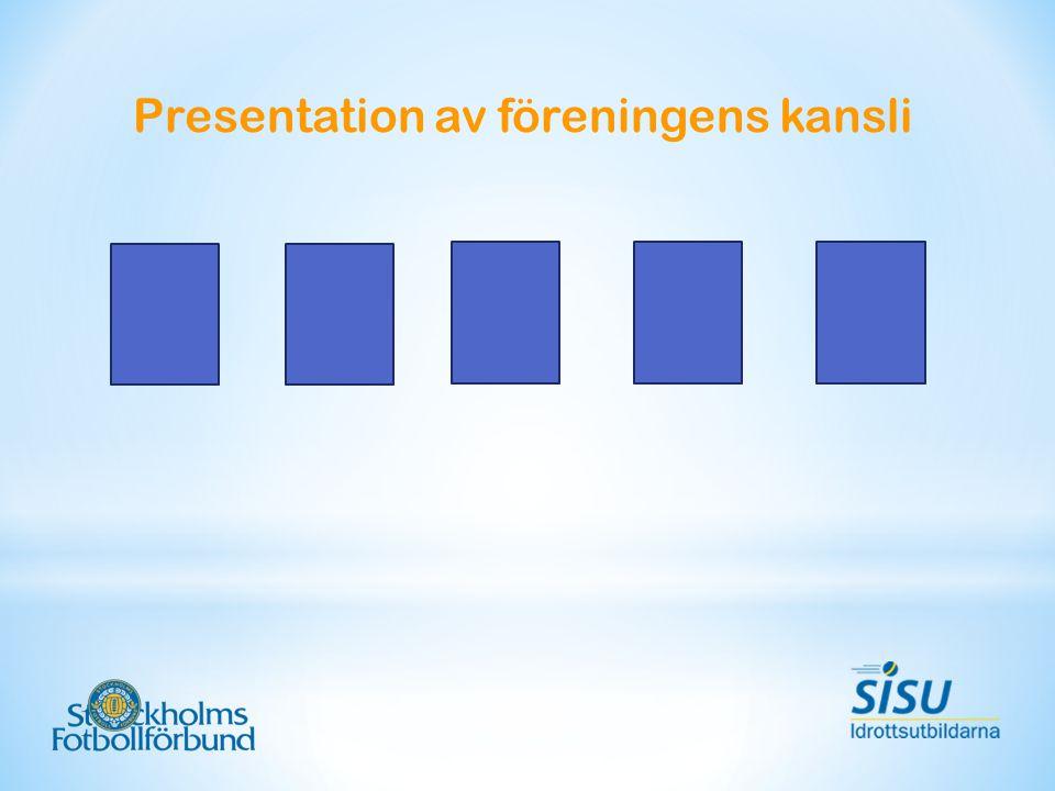 Presentation av föreningens kansli