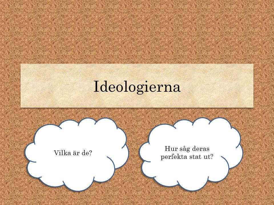 Ideologierna Vilka är de? Hur såg deras perfekta stat ut?