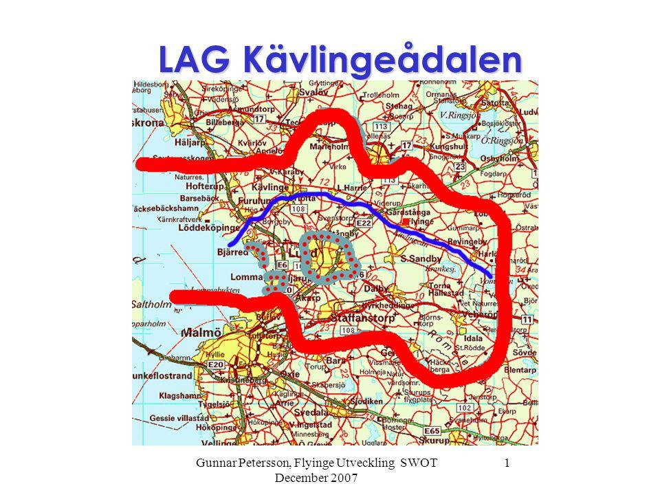 Gunnar Petersson, Flyinge Utveckling SWOT December 2007 1 LAG Kävlingeådalen LAG Kävlingeådalen