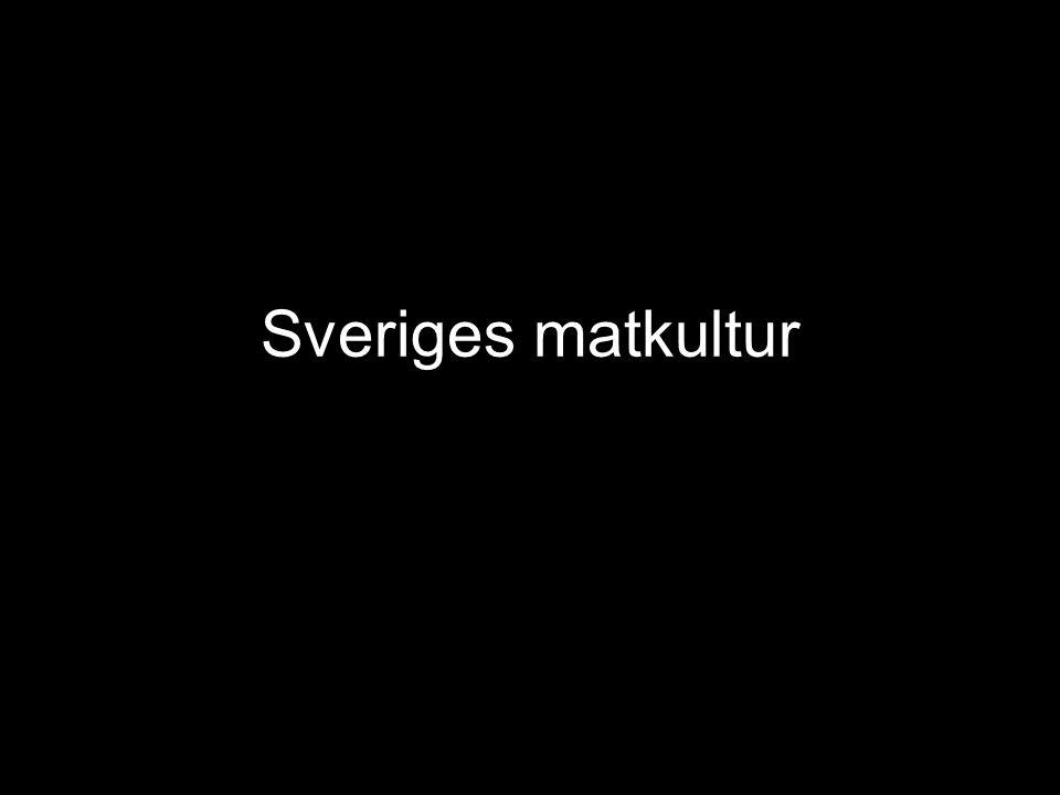 Sveriges matkultur