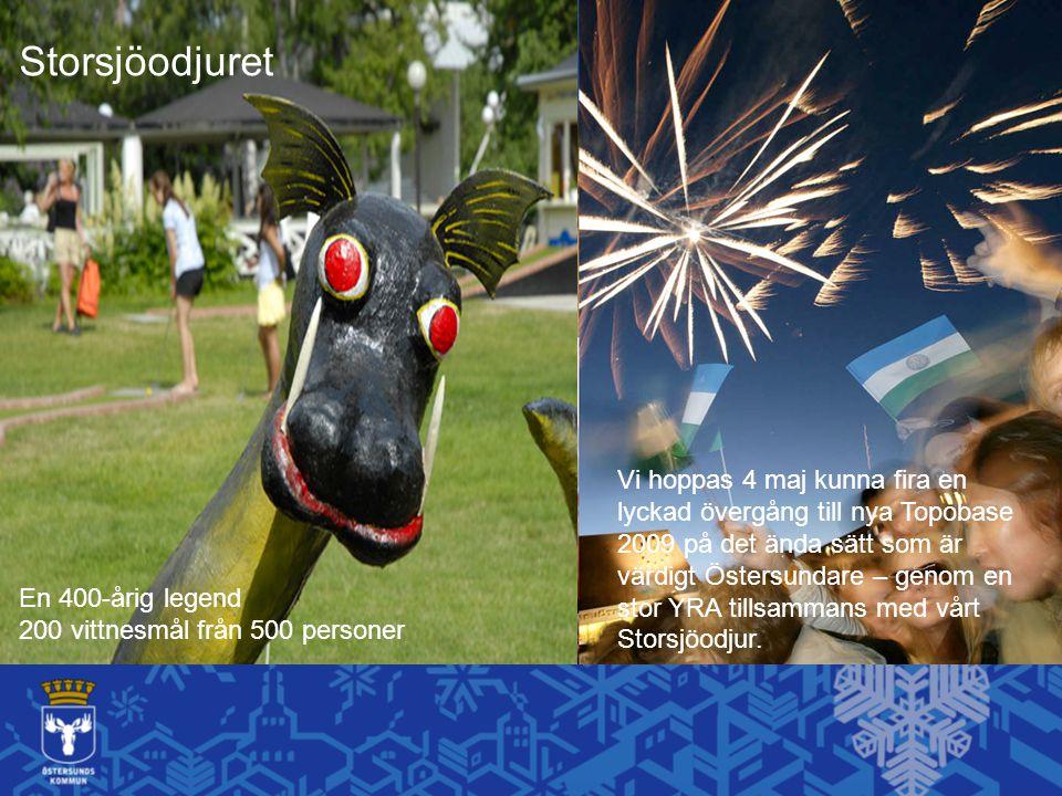 En 400-årig legend 200 vittnesmål från 500 personer Storsjöodjuret Vi hoppas 4 maj kunna fira en lyckad övergång till nya Topobase 2009 på det ända sä