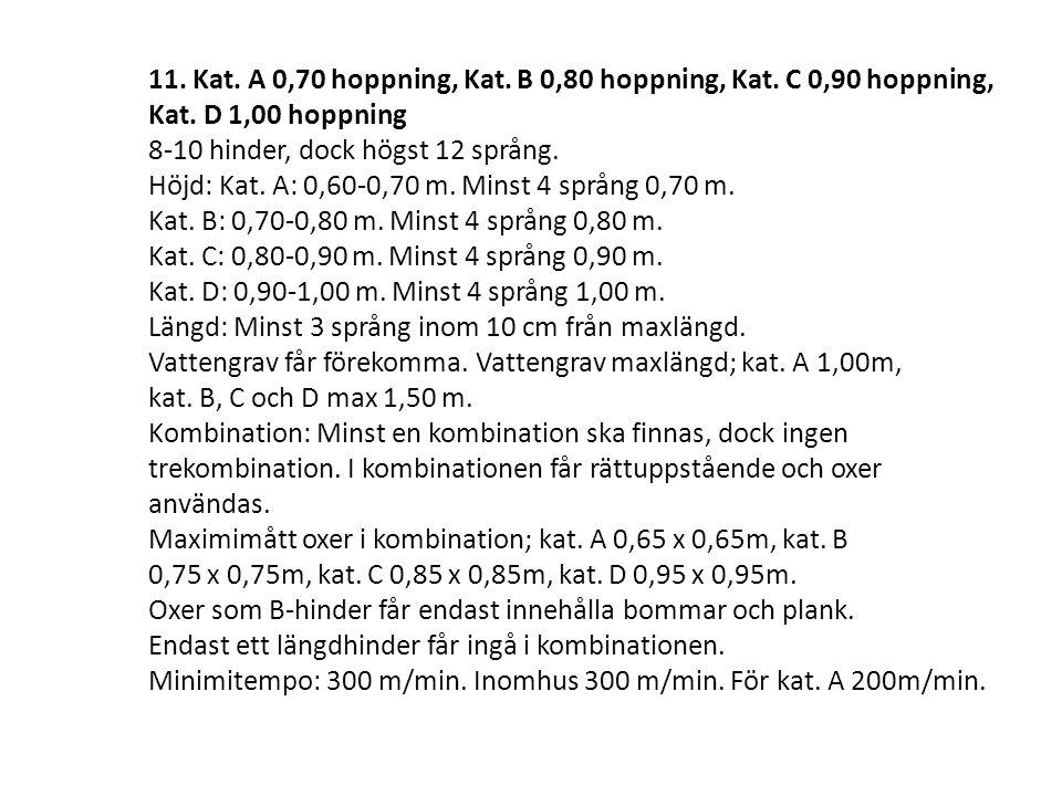 11.Kat. A 0,70 hoppning, Kat. B 0,80 hoppning, Kat.