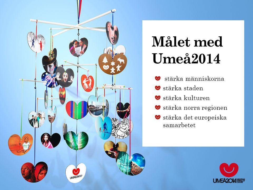 Målet med Umeå2014 stärka människorna stärka staden stärka kulturen stärka norra regionen stärka det europeiska samarbetet