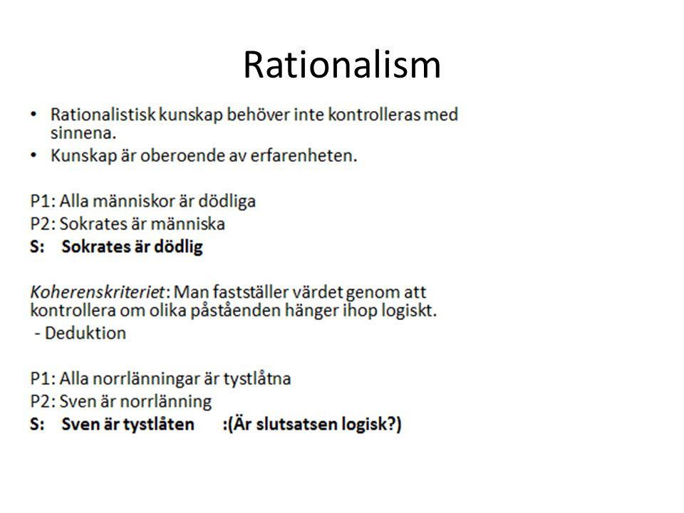 Rationalism passar länge bättre med den framväxande katolska kyrkans idéer.