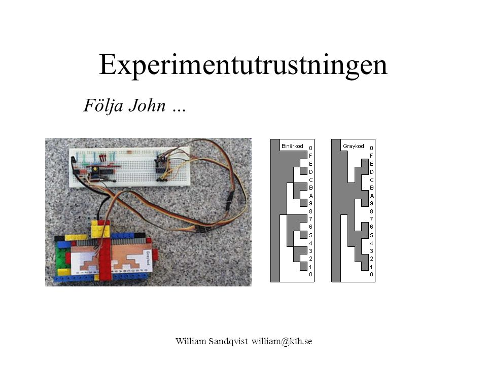 William Sandqvist william@kth.se Experimentutrustningen Följa John …