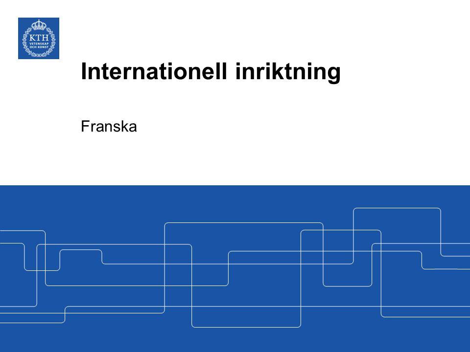 Internationell inriktning Franska