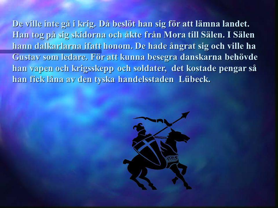 Gustav tyckte att tiden var inne att tala till folket i Mora.