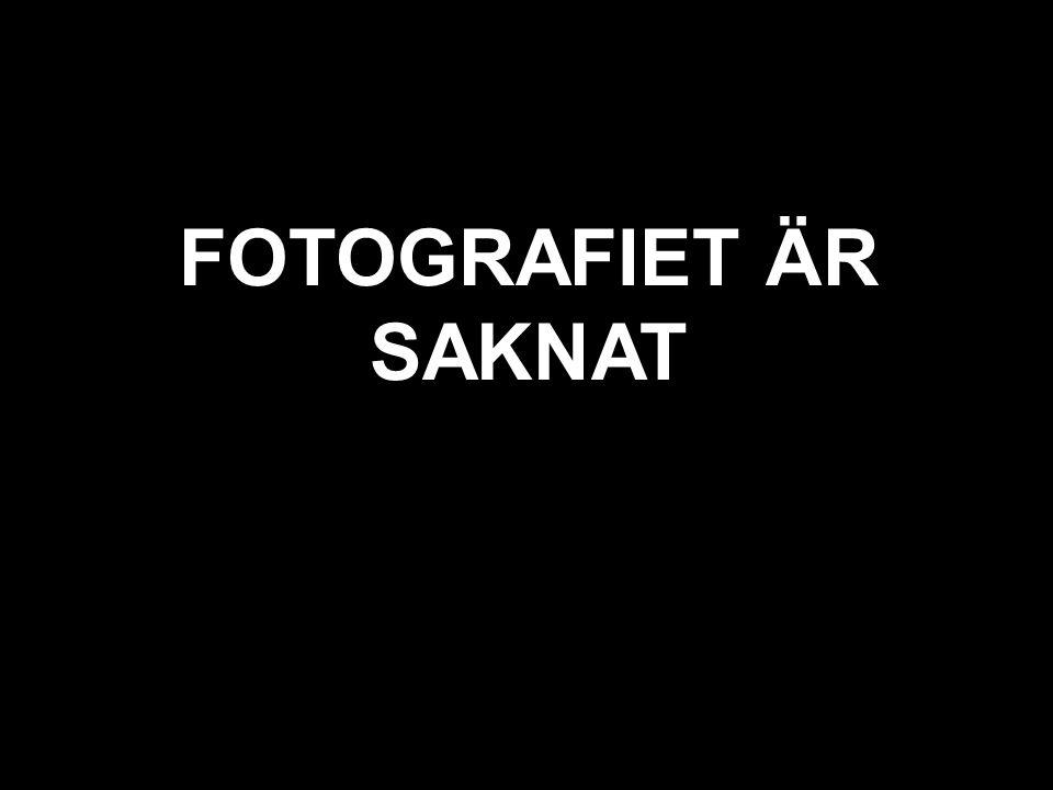 svart texten är bortglömd FOTOGRAFIET ÄR SAKNAT