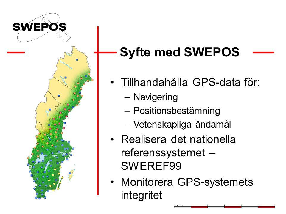 Varför Nätverks-RTK ? Bara en GPS-mottagare behövs för detalj- mätning med centimeternoggrannhet Etablering av lokal referensstation eller användning