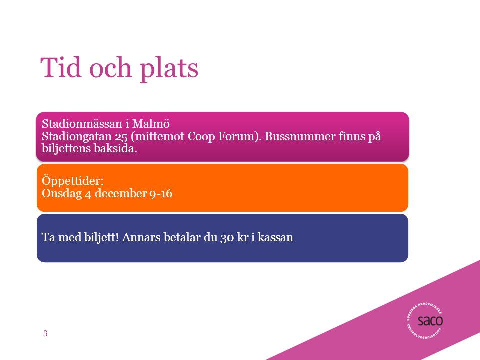| Föredragsnamn, Föredragshållare, ååmmdd Tid och plats Stadionmässan i Malmö Stadiongatan 25 (mittemot Coop Forum).
