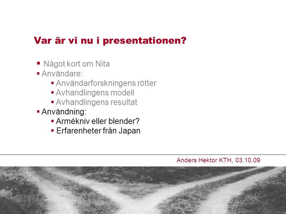 Var är vi nu i presentationen.