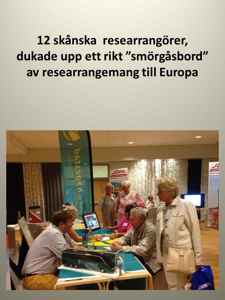 """12 skånska researrangörer, dukade upp ett rikt """"smörgåsbord"""" av researrangemang till Europa"""