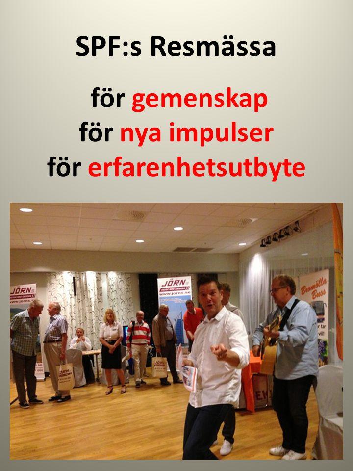 SPF:s Resmässa för gemenskap för nya impulser för erfarenhetsutbyte
